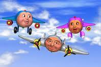 Also, planes have creepy faces.