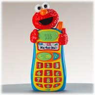 "Elmo says ""Leave a message at the beep, butthead.  Hee hee hee."""
