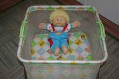 I had one of these doll play pens, yes.  You don't want to let those things out.