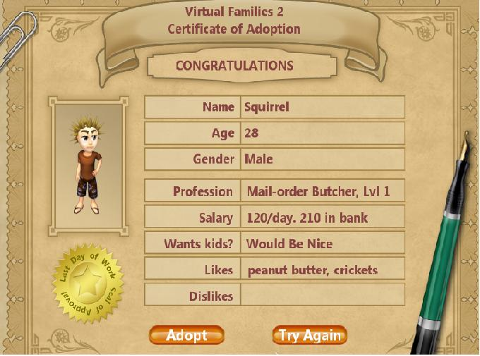 Hi.  My name is Alice and I kill tiny virtual people. (2/6)