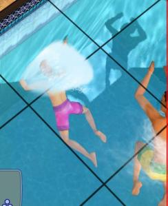 To add insult to injury, Boppo's head sticks into the pool wall.