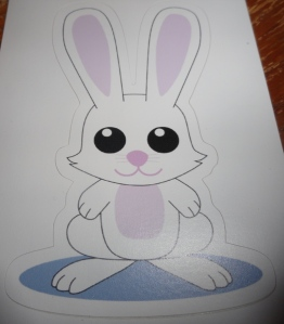 A white rabbit?  Where have I seen that before?  Who cares?  BUNNEH!