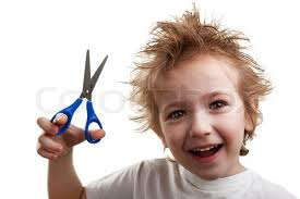 Reason 365 not to give a child scissors.