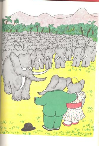 I have a dream . . . that all elephants will walk upright, wear clothes, and speak French.