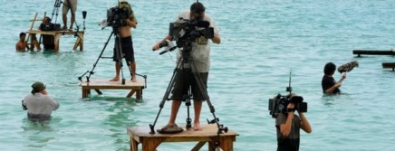 This is actually from a French version of Survivor but I still find it hilarious.  Be careful camera dudes!