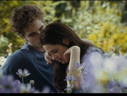 Edward checks Bella for ticks.