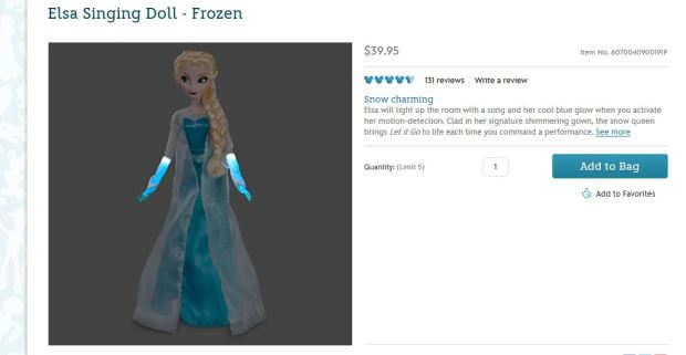 When Elsa lets it go, try to wear a lead apron.