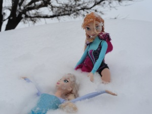 We played with dolls in the snow!