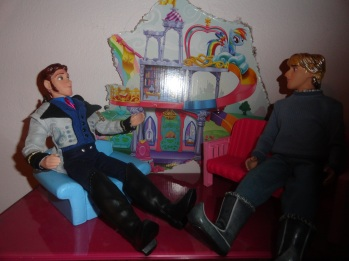 Hans: so kristzofs kris: its kristoff Hans well merry krismas! HAHAHaa? kris: its not funny hans: whoops, heh sorry