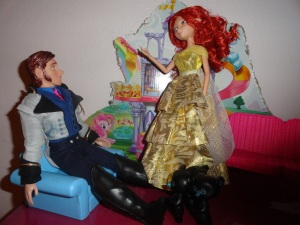 Merida: Oh, dear, my bad!  They'll be back to normal soon!  I hope. Hans: I should have stayed in prison.