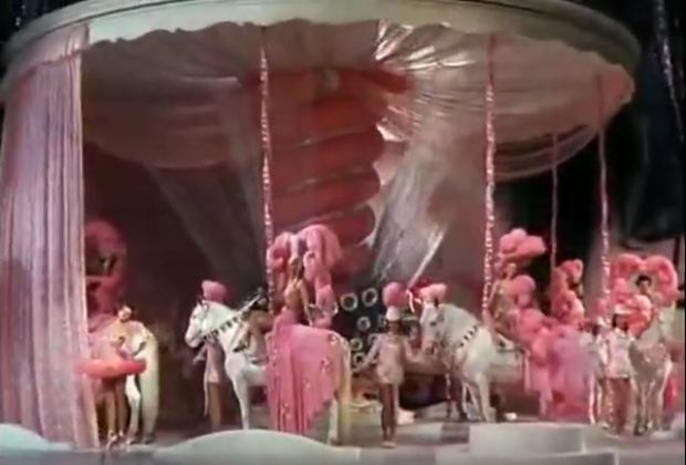 Is that a carousel or a sentient pink mushroom?
