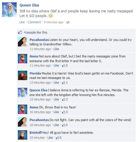Facebook Disney Posts 1