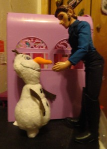 Hans: Keep quiet and no one gets hurt, snowman!