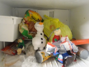 Olaf was last seen in a freezer.