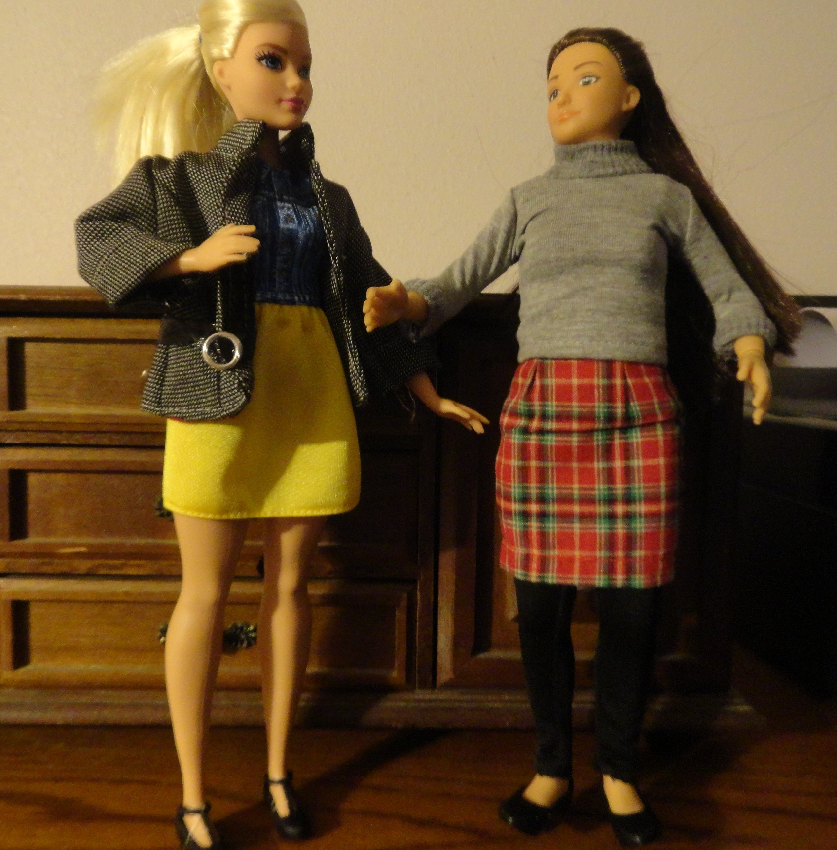 Curvy can borrow the Lammily doll's clothes, but the same can't be said for the Lammily doll. But unluckily for my pocket book, there are a lot of outfits to fit both dolls now.