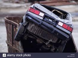 car in dumpster
